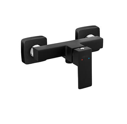 Zicco Black - Wall-mounted shower mixer